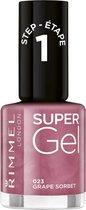Rimmel London SuperGel Nagellak - 023 Grape Sorbet - Roze