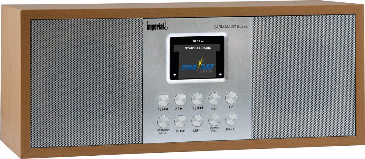 Imperial DABMAN i30 Stereo DAB+ FM en Internet Radio met bluetooth | hout