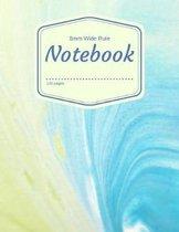 8mm Wide Rule Notebook