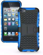GadgetBay Shockproof blauw iPod Touch 5 6 7 hoesje standaard case cover