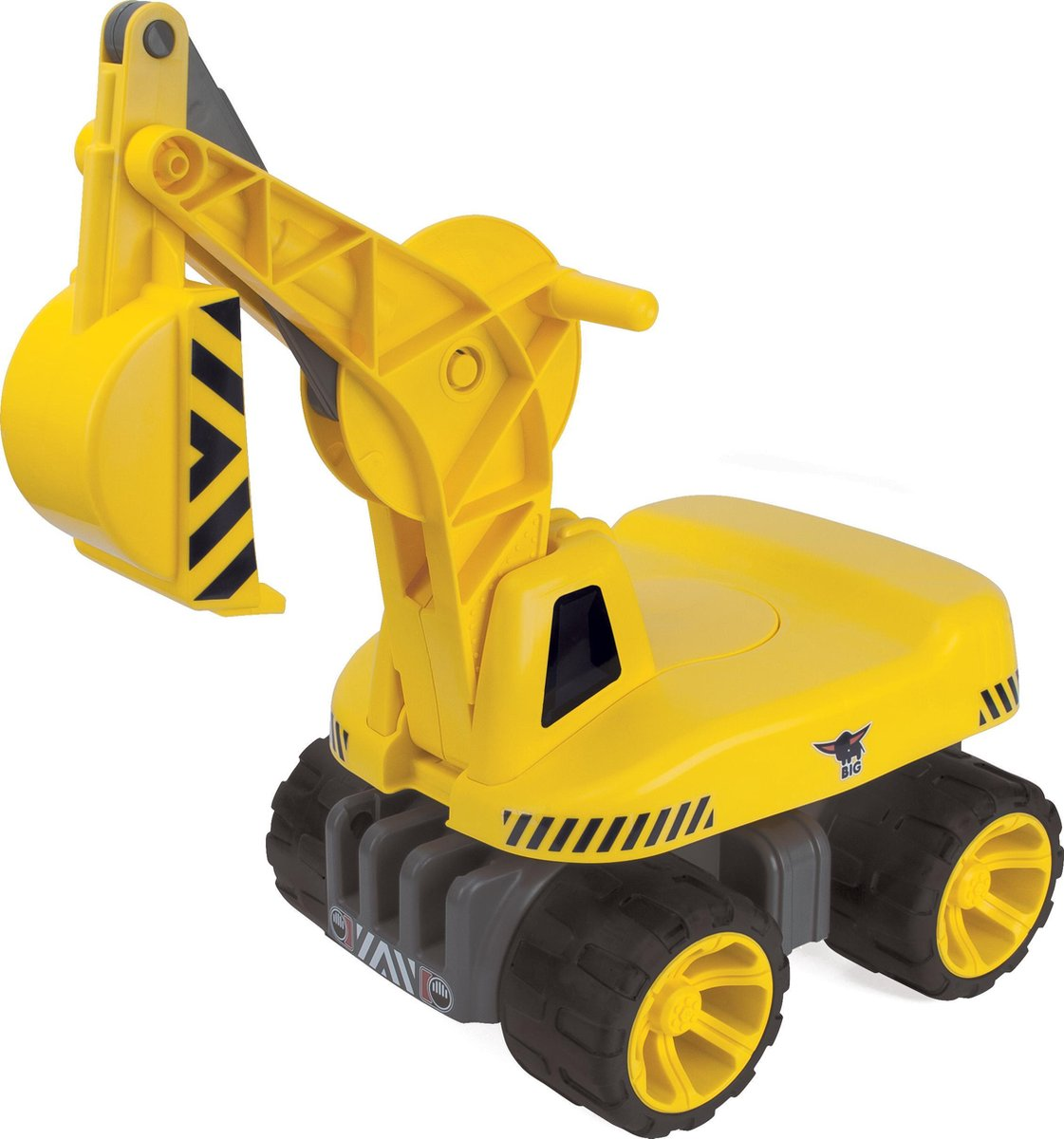 BIG 'Power Worker' Maxi Digger - Speelgoedvoertuig - Graafmachine - Geel