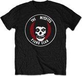 Misfits Heren Tshirt -XL- Original Fiend Club Zwart