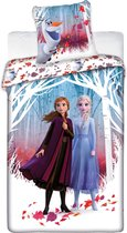 Disney Frozen 2 Dekbedovertrek - Eenpersoons - 140 x 200 cm - Polyester