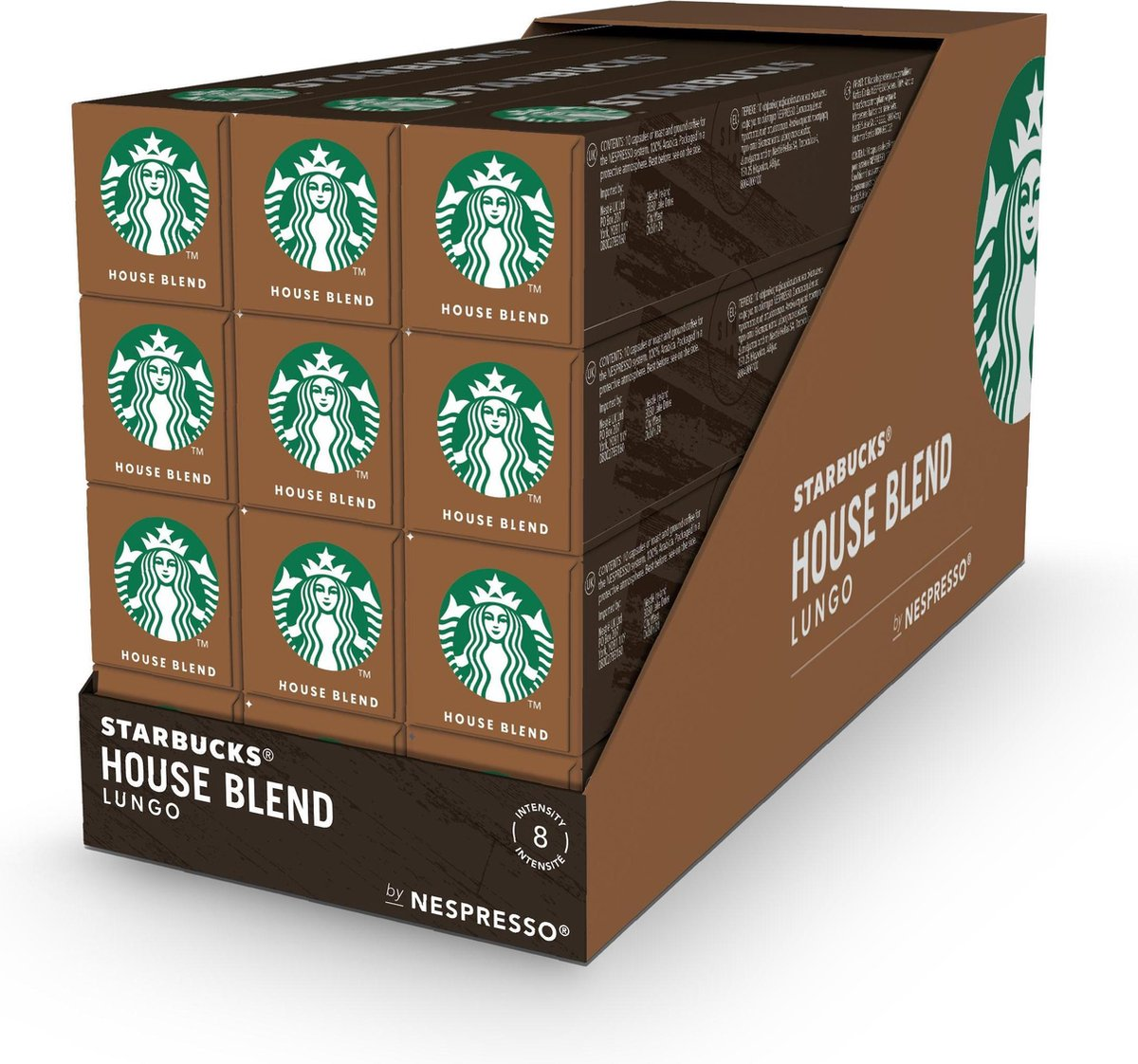 Starbucks by Nespresso capsules House Blend Medium Roast - 12 doosjes à 10 koffiecups