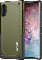 LUXWALLET® Samsung Note 10 PLUS Case - Desert Armor Drop Proof Hoes - Army Green