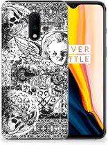 Silicone Back Case OnePlus 7 Skulls Angel
