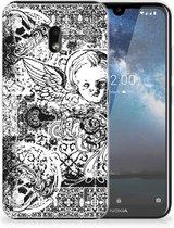 Silicone Back Case Nokia 2.2 Skulls Angel
