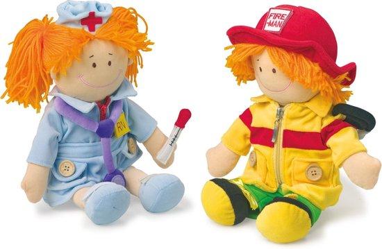 Legler Motoriekpoppen Verpleegster en brandweerman
