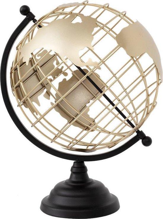 Bol Com Design Wereldbol Op Voet Wereldbol Gouden Wereld Bol Luxe Decoratie Globe