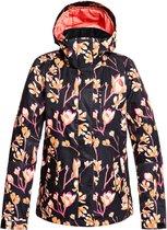 Roxy Jetty Dames Ski jas - True Black Magnolia - Maat M