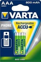 Varta AAA Oplaadbare Batterijen - 800mAh - 2 stuks