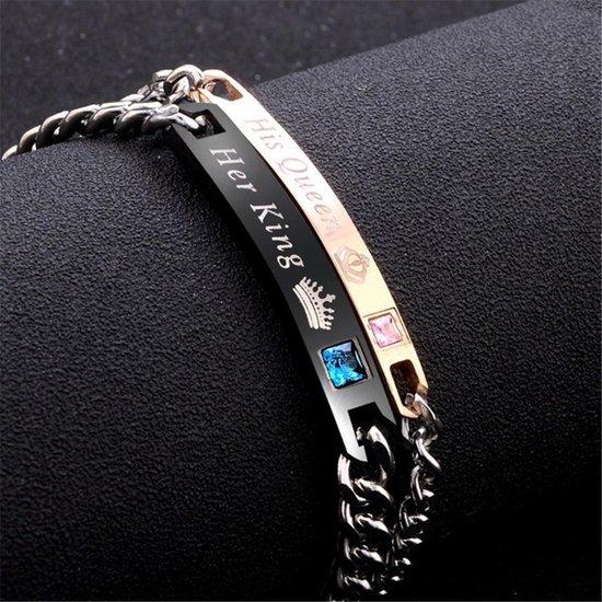His Queen & Her King   Leuke Armband set voor Hem en Haar   Koppelset   Relatieset   Relatie Cadeau   Relatie Geschenk