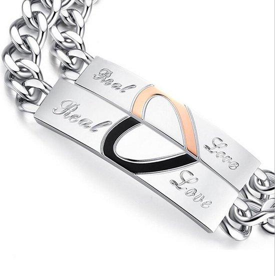 Real Love | Leuke Armband set voor Hem en Haar | Koppelset | Relatieset | Relatie Cadeau | Relatie Geschenk