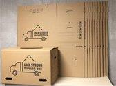 Verhuisdozen - 10 stuks - 58x38x38 CM - 50 kg Draagkracht & 83 L. inhoud - Inclusief 1 vacuüm opbergzak