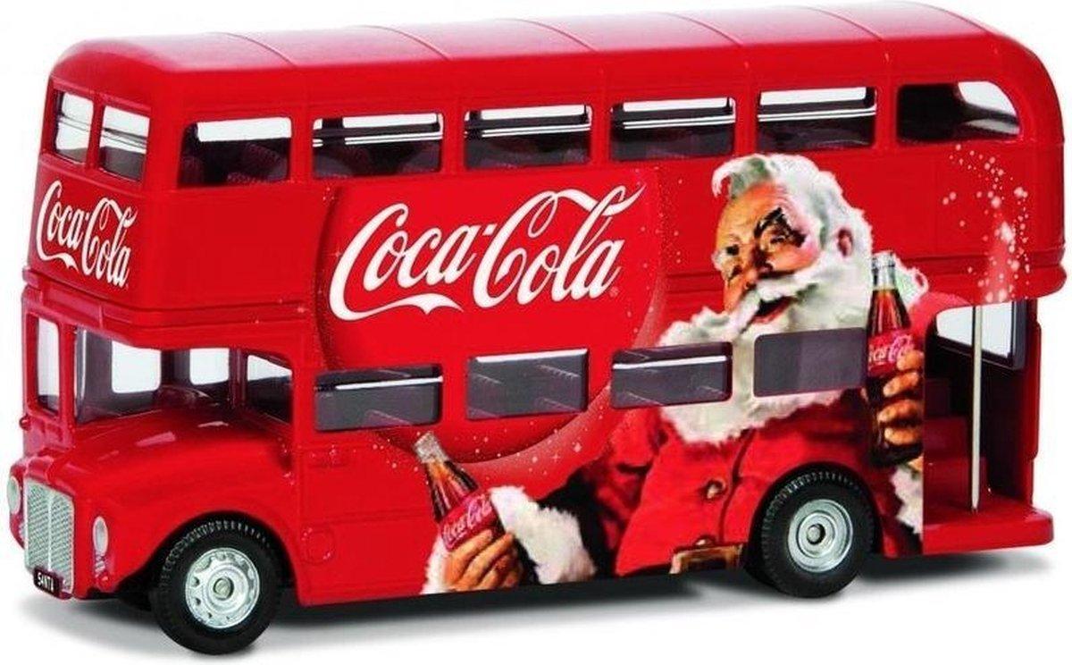 Modelauto Londen bus Routemaster Coca Cola kerstmis/kerstman 1:36 - speelgoed bus schaalmodel