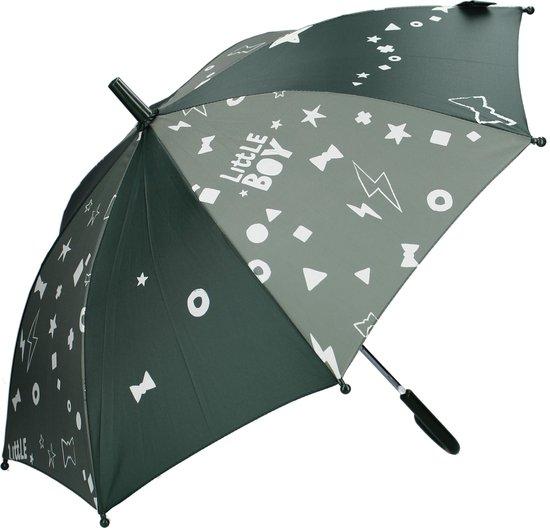 Kidzroom Fearless & Cuddle Army Paraplu – 44x78x cm  – Legergroen