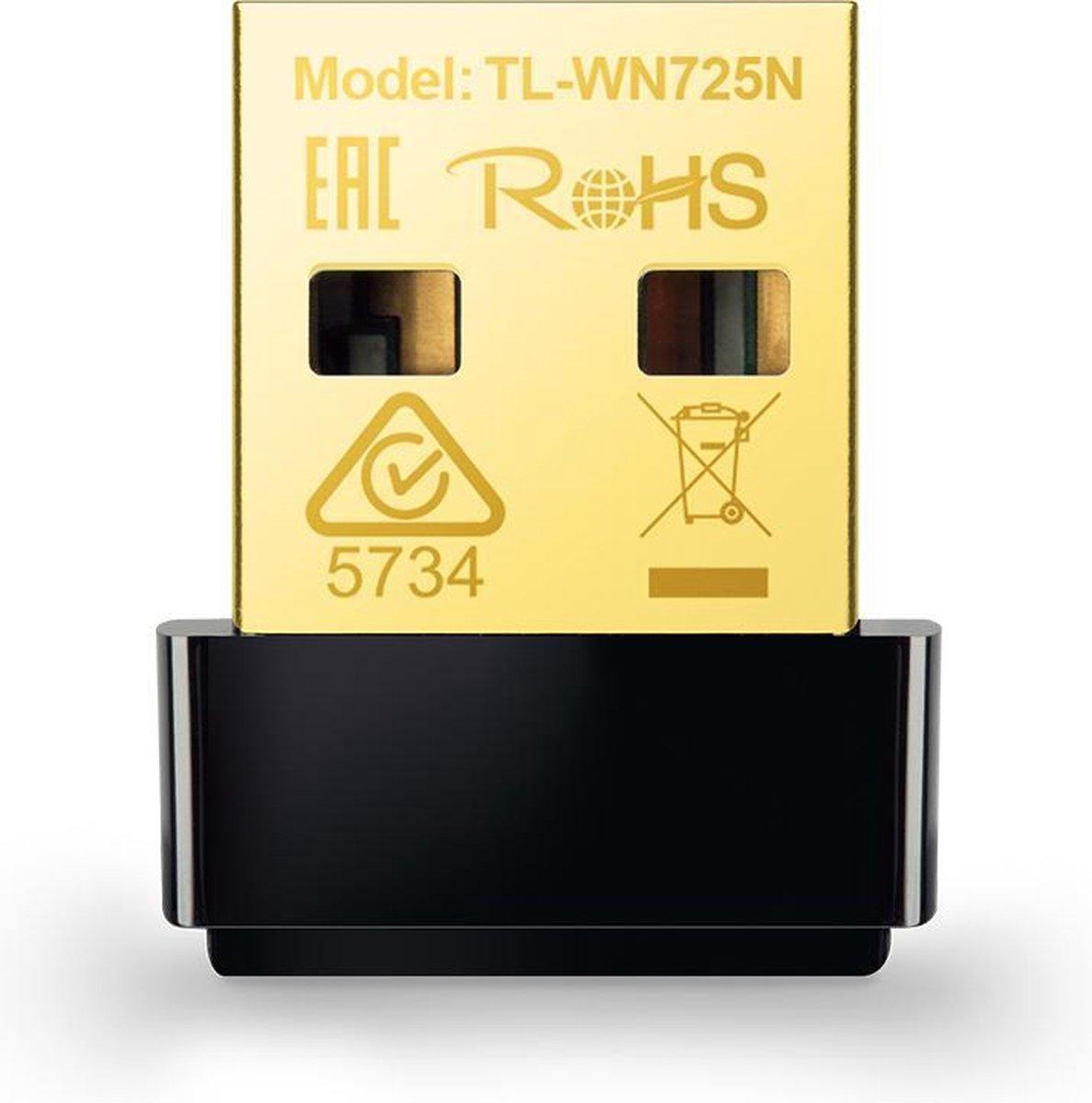 TP-Link TL-WN725N - Wireless N Nano USB-adapter - 150 Mbps