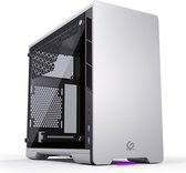 MetallicGear Neo Mini V2 Series Mini-ITX Case, Compact Chassis, Sand blasted aluminum, Tempered Glass panel, liquid cooling ready - Silver