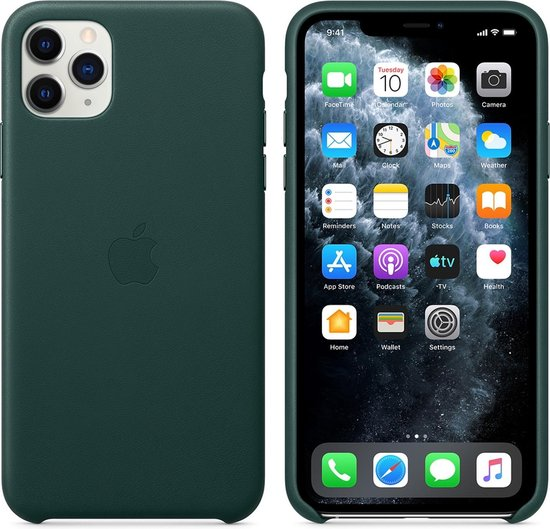Apple Leather Backcover iPhone 11 Pro Max - Forest Green