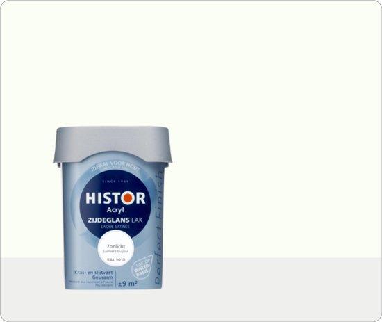 Histor Perfect Finish Lak Acryl Zijdeglans 0,75 liter - Zonlicht (Ral 9010)