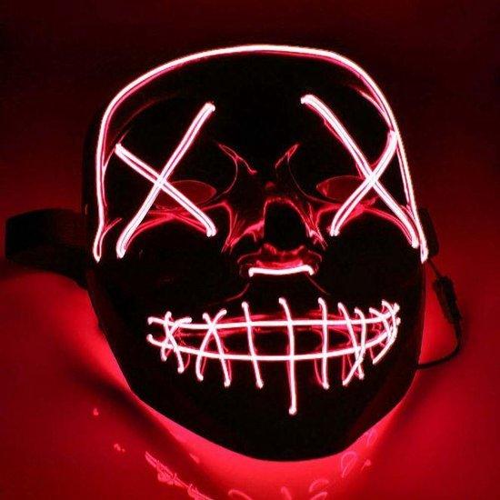 Halloween Masker - Purge - LED - Verstelbare hoofdband