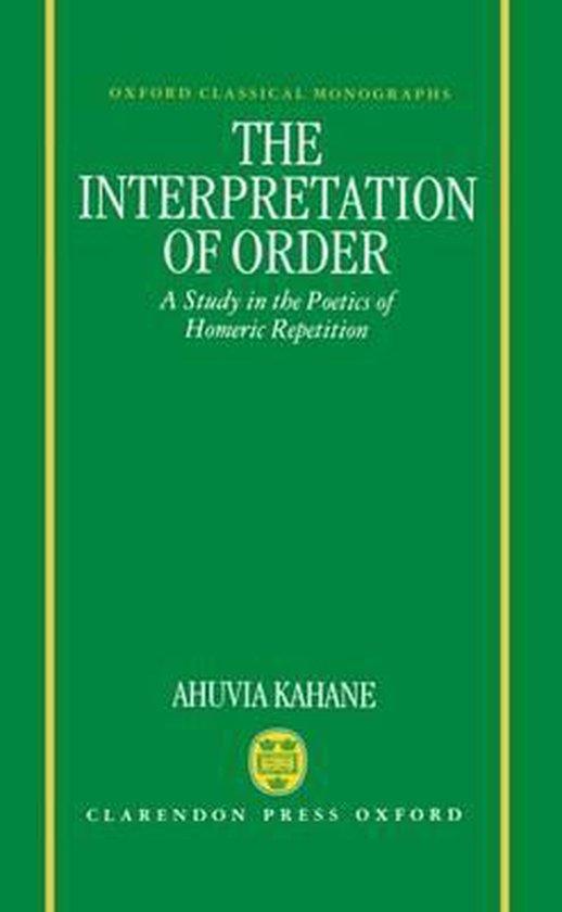 The Interpretation of Order
