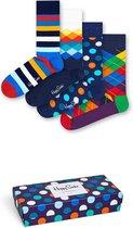 Happy Socks Mix Giftbox 4-pack - Maat 36-40 - Blauw | Multicolor