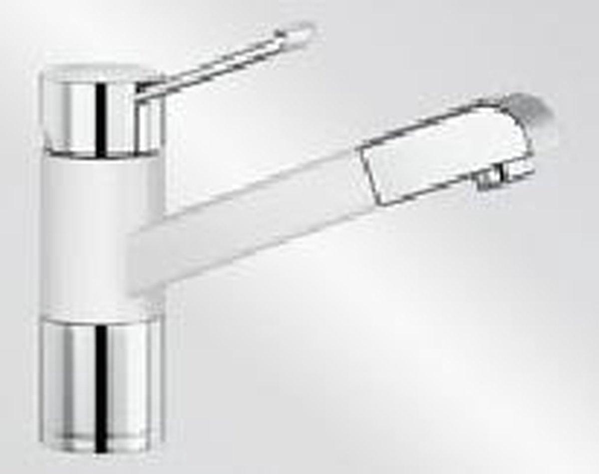 Blanco Zenos-S KER kristalwit uittrekbare handdouche 517831 keukenkraan