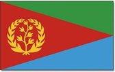 Vlag Eritrea 90 x 150 cm feestartikelen - Afrikaanse/Eritrea landen thema supporter/fan decoratie artikelen