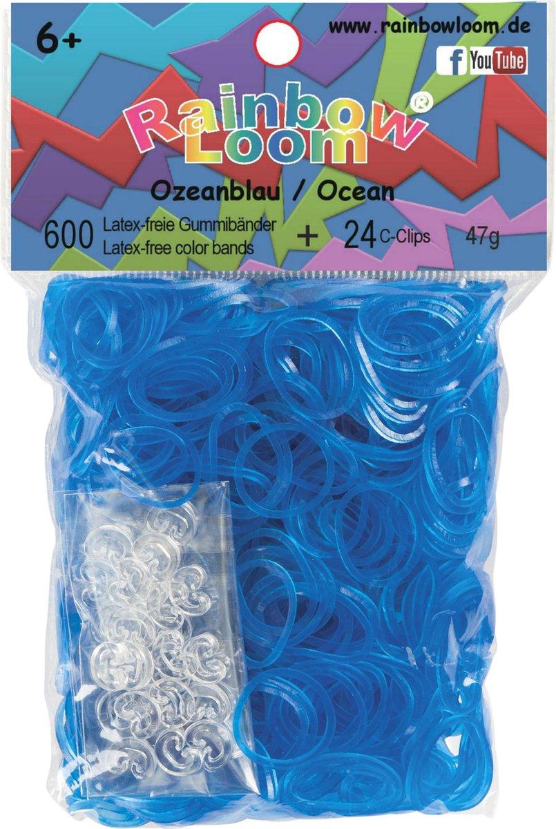 Rainbow Loom Elastiekjes Blauw 600 stuks