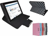 Polkadot Hoes  voor de Samsung Galaxy Tab Active, Diamond Class Cover met Multi-stand, wit , merk i12Cover
