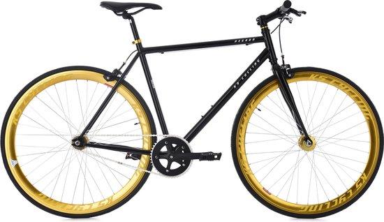 "Ks Cycling Fiets Fixie fitnessbike 28"" Pegado zwart-goud -"