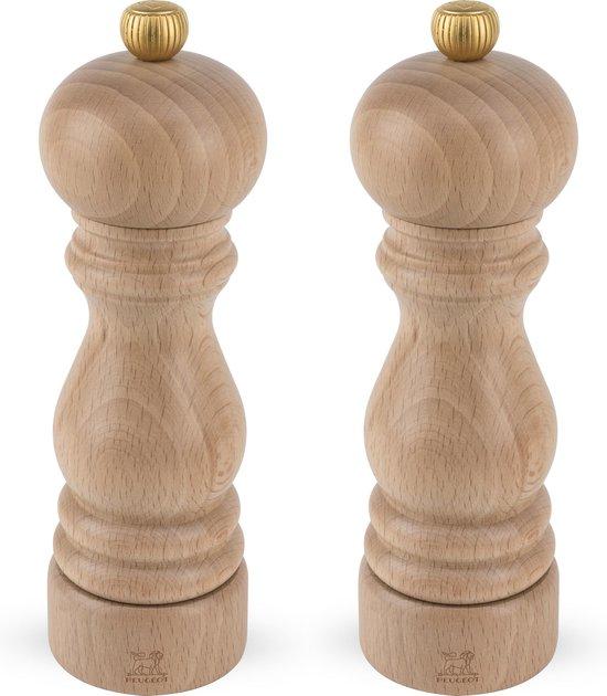 Peugeot Peper- en Zoutmolen Set - Naturel - 18 cm