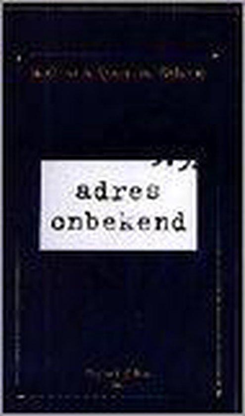 ADRES ONBEKEND - Kathrine Kressmann Taylor pdf epub