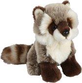 Pluche knuffel wasbeer, 18 cm