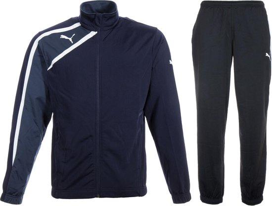 Puma Spirit Trainingspak - Maat M - Mannen - blauw/zwart/wit