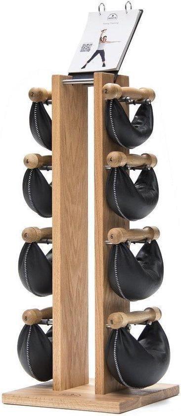 Nohrd Swing Bell Toren Set - Natural Oak - 1-2-4-6 kg