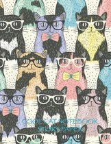 Cool Cat Notebook Story Paper