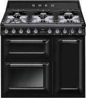 Smeg TR93BL fornuis gas (kookplaat) + elektrisch (oven) TR 93 TR93 TR 93 BL