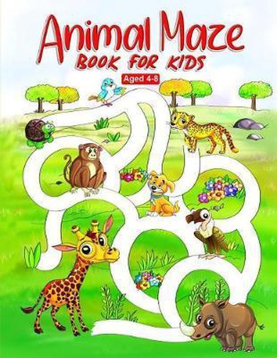 Animal Maze Book for Kids Aged 4-8