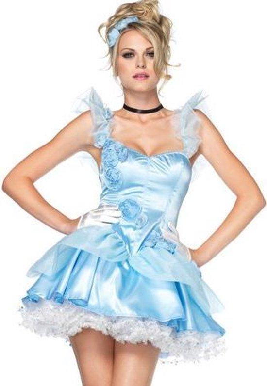 Prinses Assepoester jurkje - Sprookjes kostuum maat XS (32-34)