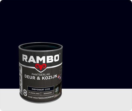 Rambo Deur & Kozijn pantser lak zijdeglans dekkend diepzwart 1123 750 ml