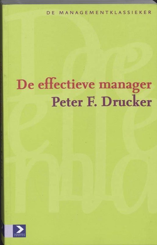 De effectieve manager - P.F. Drucker |