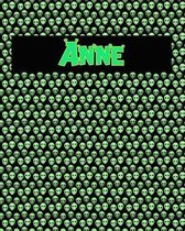 120 Page Handwriting Practice Book with Green Alien Cover Anne