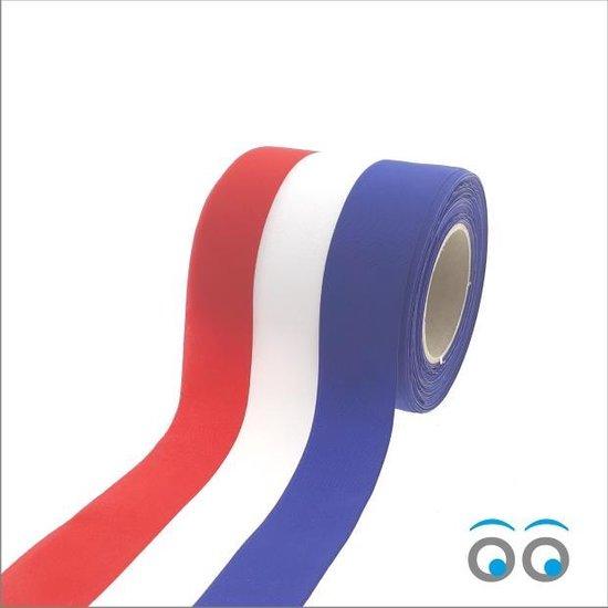 Nederlandse vlag lint (100 mm x 25 meter)