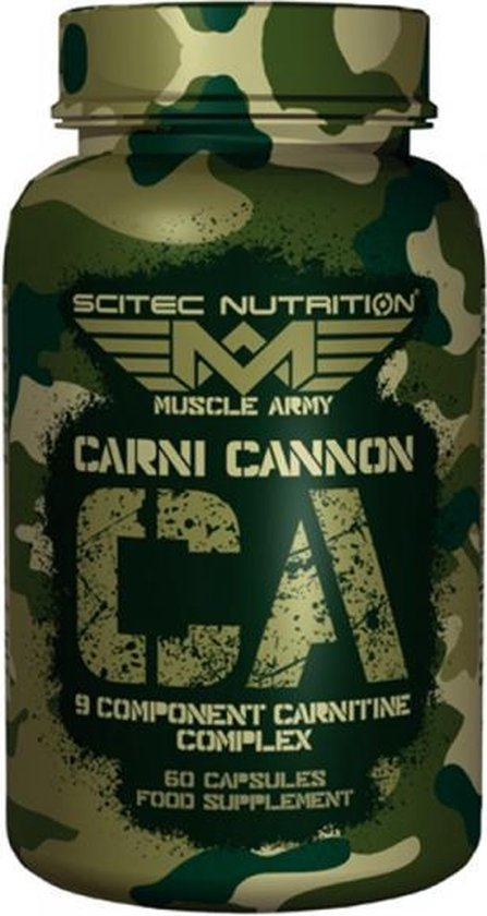 Scitec Nutrition - Muscle Army - Carni Cannon - 9 ingrediënten - 60 capsules - 30 porties