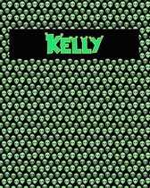 120 Page Handwriting Practice Book with Green Alien Cover Kelly