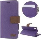 Roar - Sony Xperia X Hoesje - Wallet Case Denim Paars