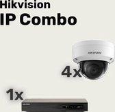 Hikvision WiFi HD camerabewaking set met 3 buiten en 1 binnen ip camera's