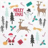Servetten - Merry Xmas - kerst